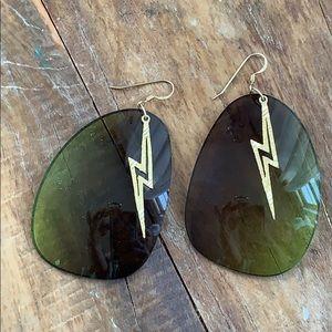 Vintage Lightning Bolt Sunnie Earrings